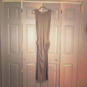 Theee Dots brand dress in a taupe color size small